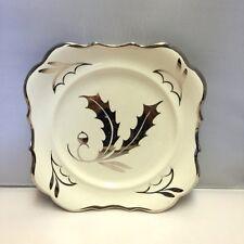 "Rare Lancaster & Sandland Hanley England ""Silver Garland"" Square Christmas Plate"