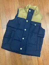 Old Navy Small Boys 6-7 Puffer Vest Navy Khaki 6 7 S