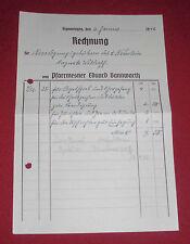 rechnung alt antik pfarr mesner bannwarth eduard sigmaringen  1942 papier