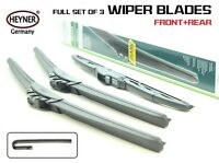 TOYOTA RAV4 2006-2012 FRONT AND REAR WINDSCREEN WIPER BLADES HYBRID