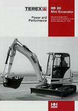 Prospekt Terex HR 20 Mini Excavator 2002 Broschüre Baumaschinen brochure Bagger
