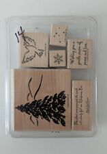 Stampin Up Season of Peace stamp set Dove Christmas Tree Snow Flake