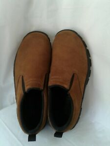 Lands End Women's Brown Suede Slip on Walking Loafers 6