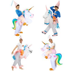 Unicorn Inflatable Costume Birthday Cosplay Party Outfit Halloween Carnival Suit
