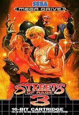 Enmarcado impresión-A4 juego de Sega Mega Drive Cartel – Streets of Rage 3 (Imagen Arte)