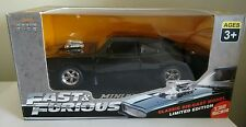 Fast & Furious Dom's 1970 Dodge Charger Pullback, Lights & Sounds Diecast Toy