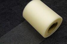 Rouleau tulle uni ivoire 10 cm x 20 m. Décoration mariage, baptême
