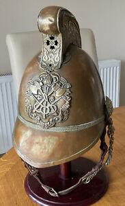 An old original Brass Fireman Helmet.