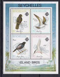 SEYCHELLES MNH STAMP SHEET 1989 ISLAND BIRDS SG MS759