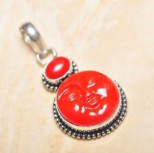 "Sterling Silver Pendant 2"" #P15918 Handmade Red Jasper Gemstone 925"