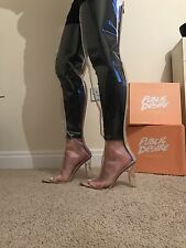 Size 5 Public Desire Brylee Thigh High Perspex Clear Heels SeeThrough RRP £54.99