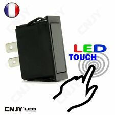 INTERRUPTEUR TOUCH LED SWITCH ON/OFF 12V TACTILE  POUR AUTO MOTO IP54 1AMP