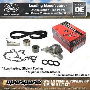 Gates Water Pump & Timing Belt Kit for Mitsubishi 380 Magna TJ TH TW Verada