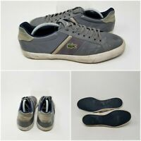Lacoste Gray Mesh Leather Athletic Running Tennis Shoes Sneaker Men's Size 10.5