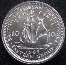 British Caribbean Territories 10 Cents 1965 CH BU
