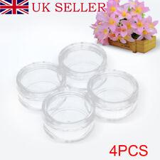4Pcs Useful Empty Plastic 10g Jar Pots Bottles Nair Art Glitter Travel Jar Pots