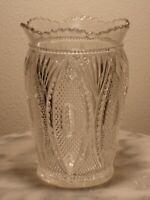 EAPG Tarentum Glass Princeton Clear Crystal Celery Vase