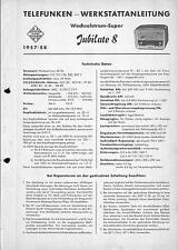 Telefunken Service Manual für Jubilate 8  Kopie