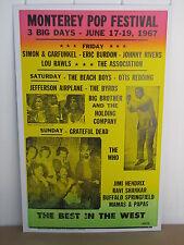 Vintage Monterey Pop Festival Concert Poster 1967  Grateful Dead, Hendrix