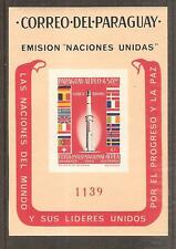 PARAGUAY # 835a Imperforate Variety MNH ROCKET FLAGS OF EUROPE