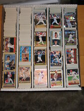 1999 Topps Baseball Card Large  Lot Approximately 827 Cards  Base and Inserts