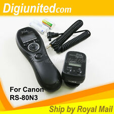 Pixel Wireless Timer Remote Control for Canon RS-80N3 EOS 1D IV 5D II III 7D 50D