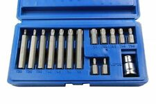 """BERGEN Tools 15pc 1/2"""" dr Torx Bit Set T20, T25, T30, T40, T45, T50, T55 1295"""