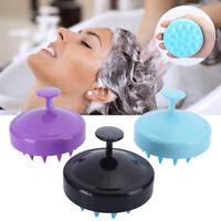 Shampoo Brush Soft Silicone Hair Scalp Massager Scrubber Silicone Comb MR