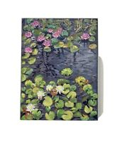 "Original Oil Painting ""Waterlillies"" On Canvas 30x40cm"