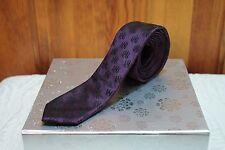 Rock and Republic Purple Emblem Mens Thin Skinny Necktie Tie Rock Gothic