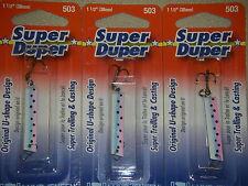 LUHR JENSEN SUPER DUPER TROUT FISHING LURES #1303-503-0314 RAINBOW TROUT 3 PK