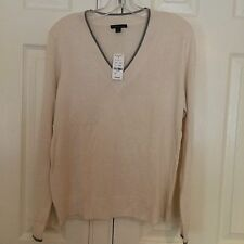 Brooks Brothers Silk/Cashmere V-Neck Sweater, Size L, NWT