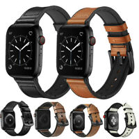 Genuine Leather Watch Band Strap For Apple Watch Series 5 4 3 2 1 38/42/40/44mm