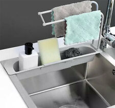 Telescopic Sink Rack Holder Expandable Storage Drain Sponge Basket Home Kitchen