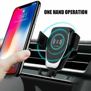 2 In 1 10W Qi Wireless Car Charger Gravity Bracket For i Phone X 8 Plus 11 XR XS