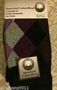NEW Perry Ellis Portfolio mercerized cotton men's dress socks 3-pack men black