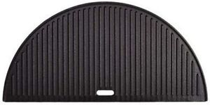 Cast Iron Griddle Grill BBQ Reversible Half Moon Non-Stick Durable Heavy Duty