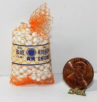 Dollhouse Miniature Bag of Onions Multi Minis 1:12 Scale
