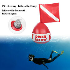 Snorkel Scuba Diving Surface Marker Inflatable Signal Floater Buoy Ball w/Flag