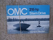 1971 OMC Stern Drive Owner Manual 215  HP  MORE MARINE MANUALS IN OUR STORE  S