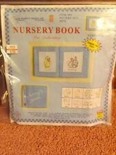 Vtg 2004 NOS NIP Soft 10 Pg Personalized Nursery Baby Animal Book EMBROIDERY KIT