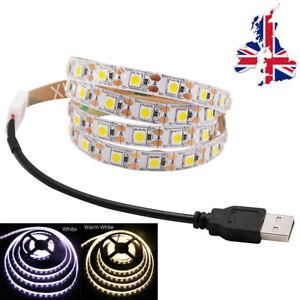 5V LED Strip Lights USB TV Backlight Self Adhesive Tape Lamp Decoration Light