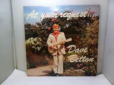 AT YOUR REQUEST DAVE BETTON SIGED COPY DENMAN DISCS DD106 VINYL LP