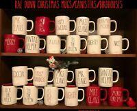 Rae Dunn Christmas Xmas Mugs Cocoa Birdhouse Magenta - Love Red Sweater Weather
