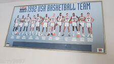 Dream Team 1992 Usa Basketball Licenced Poster Custom Framed