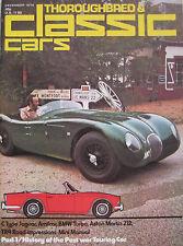 Classic Cars 12/1974 featuring Jaguar C-type, Triumph TR4, BMW 2002, Amilcar