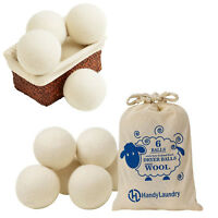 Reusable Wool Dryer Balls Natural Fabric Softener Reduce Wrinkles Laundry Drying
