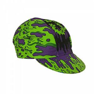 NEW Cinelli Ana Benaroya Slime Cotton Cycling Cap  Road Urban Fixie Green Purple
