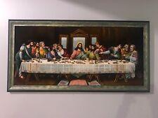 Handmade (like picture painting) the last supper Leonardo da Vinci Jesus Rug