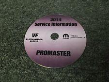 2014 Dodge Ram Promaster Cargo Van 1500 2500 3500 Service Manual CD Diesel & Gas